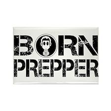 Born Prepper Gas Mask Rectangle Magnet