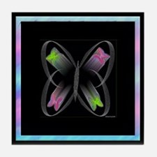 Butterfly Motion2 Tile Coaster