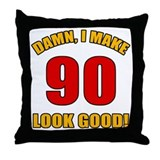 90 year old birthday Throw Pillows