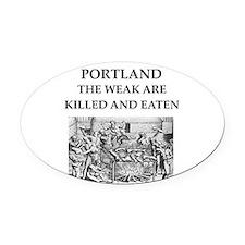 portland Oval Car Magnet