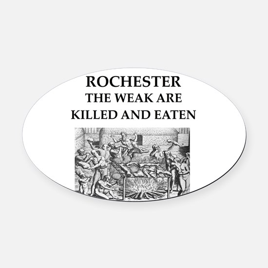 rochester Oval Car Magnet