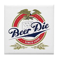 Beer Die Tile Coaster