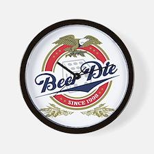 Beer Die Wall Clock