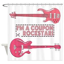 COUPON ROCKSTAR! Shower Curtain