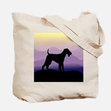 Cute Airedale terrier art Tote Bag