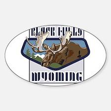Black Hills Mountaintop Moose Sticker (Oval)