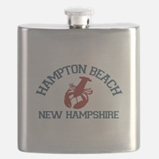 Hampton Beach NH - Lobster Design. Flask