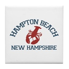 Hampton Beach NH - Lobster Design. Tile Coaster