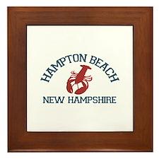 Hampton Beach NH - Lobster Design. Framed Tile