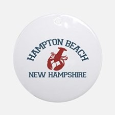 Hampton Beach NH - Lobster Design. Ornament (Round