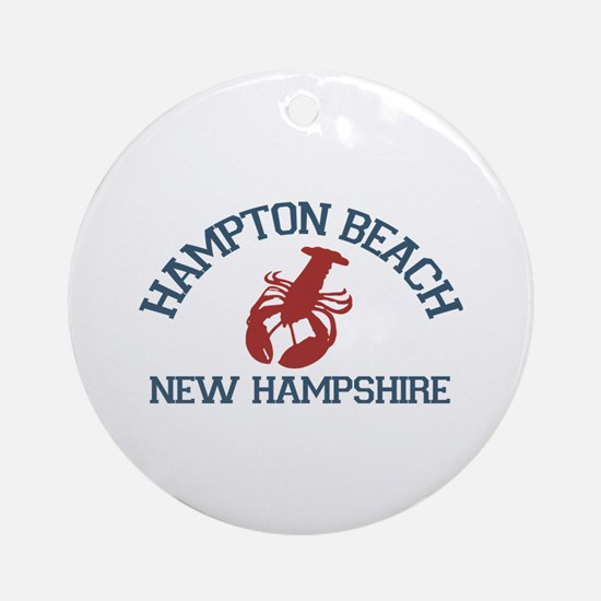 Hampton Beach NH - Lobster Design. Ornament (Round