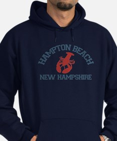 Hampton Beach NH - Lobster Design. Hoodie (dark)