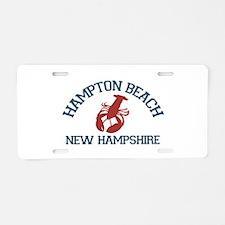 Hampton Beach NH - Lobster Design. Aluminum Licens