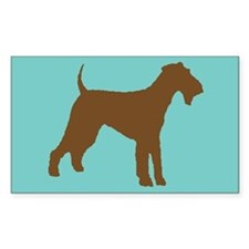 airedale terrier brown Rectangle Decal