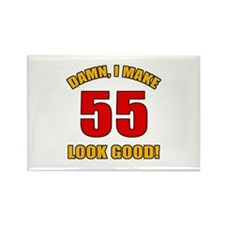 55 Looks Good! Rectangle Magnet
