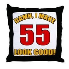 55 Looks Good! Throw Pillow