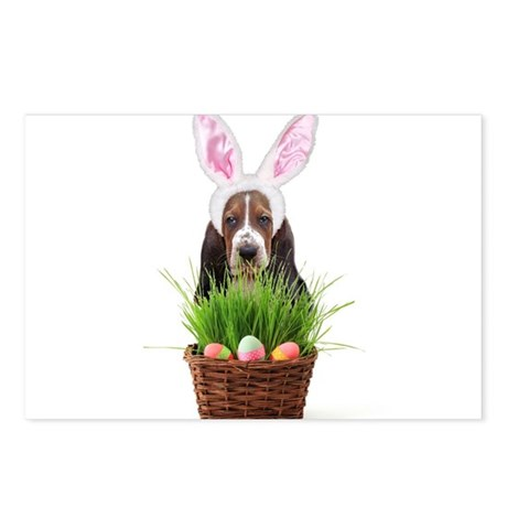 Easter Basset Hound Postcards (Package of 8)