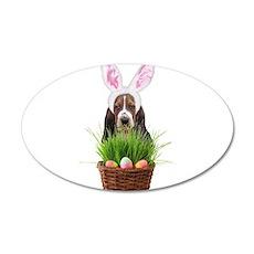 Easter Basset Hound Decal Wall Sticker