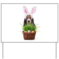 Easter Basset Hound Yard Sign