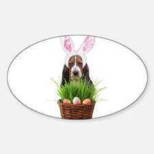 Easter Basset Hound Decal