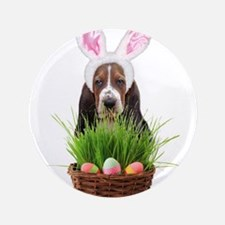 """Easter Basset Hound 3.5"""" Button (100 pack)"""
