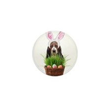 Easter Basset Hound Mini Button (100 pack)