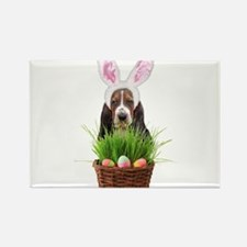 Easter Basset Hound Rectangle Magnet (100 pack)