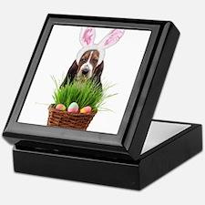 Easter Basset Hound Keepsake Box