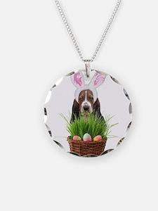Easter Basset Hound Necklace