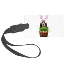 Easter Basset Hound Luggage Tag