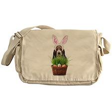 Easter Basset Hound Messenger Bag