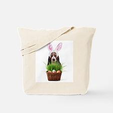 Easter Basset Hound Tote Bag