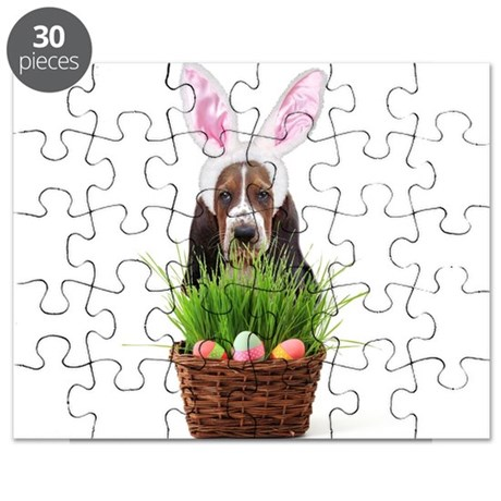 Easter Basset Hound Puzzle