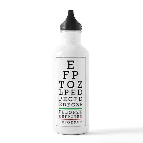 Eye Chart Stainless Water Bottle 1.0L