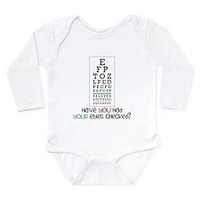 Eyes Checked Long Sleeve Infant Bodysuit