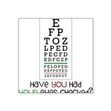 "Eyes Checked Square Sticker 3"" x 3"""