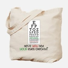 Eyes Checked Tote Bag
