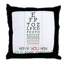 Eyes Checked Throw Pillow