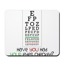 Eyes Checked Mousepad