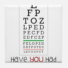 Eyes Checked Tile Coaster