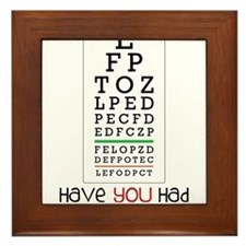 Eyes Checked Framed Tile
