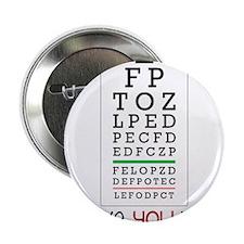 "Eyes Checked 2.25"" Button"