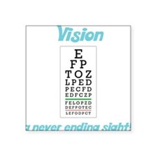 "Vision Square Sticker 3"" x 3"""