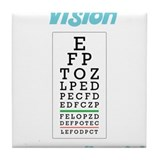 Eye test chart Tile Coasters