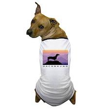 dachshund dog purple mt. Dog T-Shirt