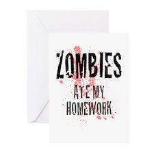 ZOMBIES Ate My Homework.jpg Greeting Cards (Pk of