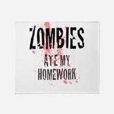 ZOMBIES Ate My Homework.jpg Throw Blanket