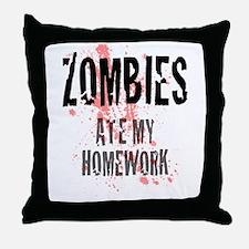 ZOMBIES Ate My Homework.jpg Throw Pillow