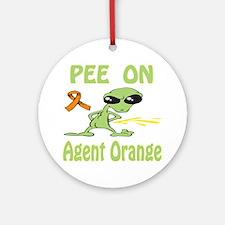 Pee on Agent Orange Ornament (Round)