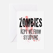ZOMBIES kept me from studying Greeting Cards (Pk o